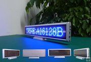 Indoor Electronic Message LED Signs|P3 Blue Color 16x128 dots Desktop LED Board