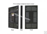 P12.5mm 6,400 Pixel Indoor LED Curtain Display, LED Mesh Screen