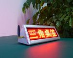 P3 Red Color Desktop Double Sided Indoor LED Moving Message Signs