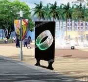 Outdoor SMD Floor Standing Advertising LED Totem Display P5mm