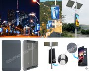 Outdoor Lamp Post Mounting SMD LED Display Signage P6mm