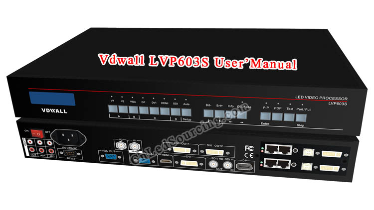 VDWall LVP603S LED Video Switcher User Manual - Click Image to Close