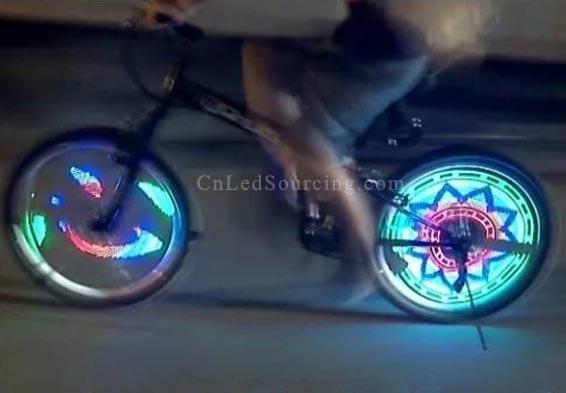 Rgb Colorful Led Bike Wheel Lights Diy Programmable Cls Ledbike